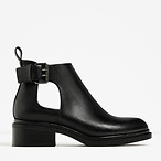 Flat Open Ankle Boots