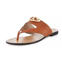 Tory Burch Sydney Leather Logo Thong Sandal