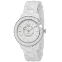 Dior VIII Diamond Automatic White Ceramic and Stainless Steel Ladies Watch