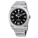 Rolex Explorer Black Dial Domed Bezel Oyster Bracelet Men's Watch BKASO