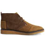 男款棕色踝靴