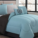 Reversible Comforter Set with Printed Sheets (9-Piece)