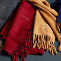 Saint Laurent Cashmere-Wool Blend Logo-Embroidered Scarf