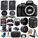 Nikon D3400 Digital SLR Camera 3 Lens Kit 18-55 VR Lens + 32GB Best Value Bundle
