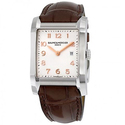Baume and Mercier Hampton Silver Dial Brown Leather Ladies Watch