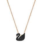 Black Swan Pendant Necklace
