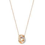 Double Ring Pavé Pendant Necklace