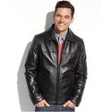 Tommy Hilfiger Men's Smooth Lamb Leather Jacket