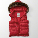 Abercrombie & Fitch Women's Hooded Puffer Vest