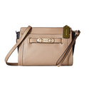 COACH Color Block Pebbled Leather Swagger Wristlet