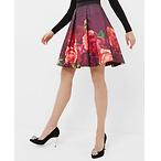 玫瑰印花短裙
