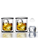Sun's Tea Strong Double Wall Manhattan Style old-fashioned Glasses