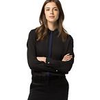 黑色女式衬衫
