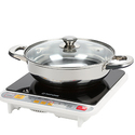 Tatung 1500 Watts Induction Cooktop with Stainless Steel Pot
