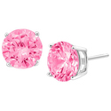 FREE Pink Cubic Zirconia Stud Earrings w/ Any Purchase