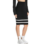 Lace-Up Pencil Skirt