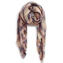 BP. 格纹保暖长围巾