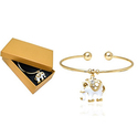 Elephant Charm Cuff Bangles Made with Swarovski Elements