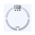 Coby Glass Digital Body Fat Scale with 10-User Memory