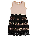 Lanvin Lace & Jersey Dress