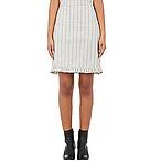 Marni Gathered-Hem Poplin Skirt
