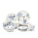 蝴蝶蓝精品陶瓷餐具套装 28件