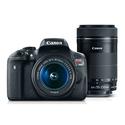 Canon T6i 单反+18-55mm+55-250mm 镜头套装