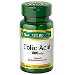 Nature's Bounty Folic Acid 250ct