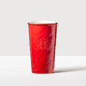 Starbucks Red Quilted Double Wall Traveler Adorned w/ Swarovski Crystals