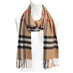 Gaint Check Cashmere Scarf