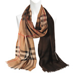 Ombre giant check wool Scarf