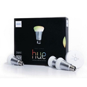 Philips Hue Color Changing Starter Kit, 3 Bulbs and Bridge (Manufacturer Refurbished)