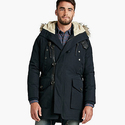 Lucky Brand Men's Navy Fur Lined Parka
