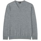 男款V领毛衣