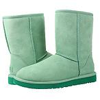 经典薄荷绿中筒靴
