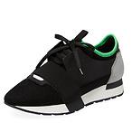 黑色绿尾运动鞋