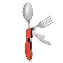 Hikenture 4-In-1 Camping Utensil Stainless Steel Fork Knife Spoon Bottle Opener Set