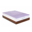 "Lucid 2"" 5-Zone Lavender-Scented Memory-Foam Mattress Topper"