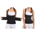 Hot Shapers Women's Waist Trainer Belt with Bonus Thermal Camisole Vest