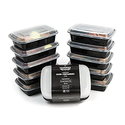 California Home Goods Reusable Food Storage Containers with Lids Set of 10