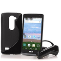 "LG Sunset 4.5"" 4G LTE Android 5.0 TracFone, Car Charger, Case and App Pack"