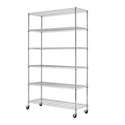 "Commercial 82""x48""x18"" 6 Tier Layer Shelf Adjustable Wire Metal Shelving Rack"