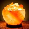 Rock Salt Bowl Lamp