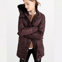 Abercrombie & Fitch Women's Shiny Parka Puffer Jacket