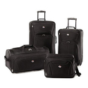 American Tourister Ultra-Lightweight Rolling Luggage Set (4-Piece)