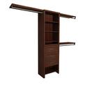 ClosetMaid Impressions 5 ft. - 10 ft. Dark Cherry Basic Plus Closet System