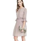 Dot Ruffle Sleeve Dress