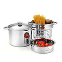 Cook N Home Stainless Steel 4-Piece Pasta Cooker Steamer Multipots