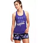 紫色运动背心