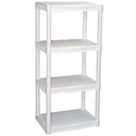 Plano 4-Tier Heavy-Duty Plastic Shelves